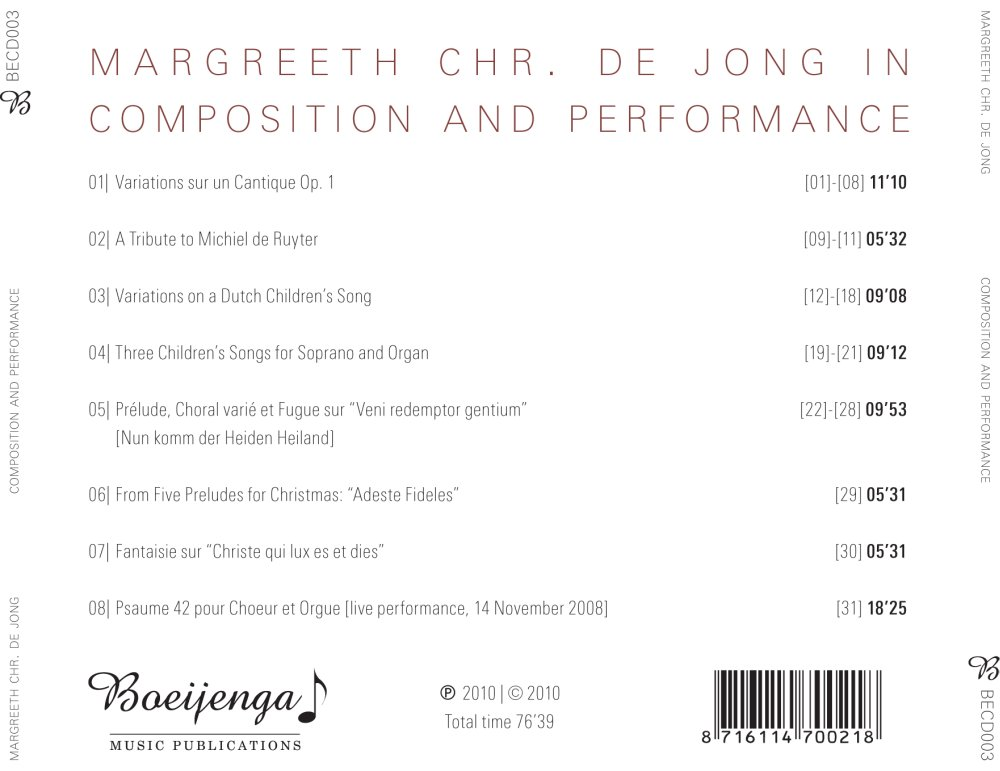 Composition and Performance - Achterkant