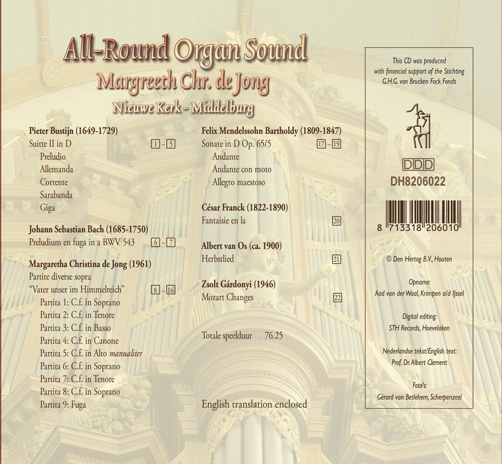 All-Round Organ Sound - Achterkant