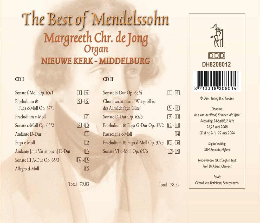The Best of Mendelssohn - Achterkant